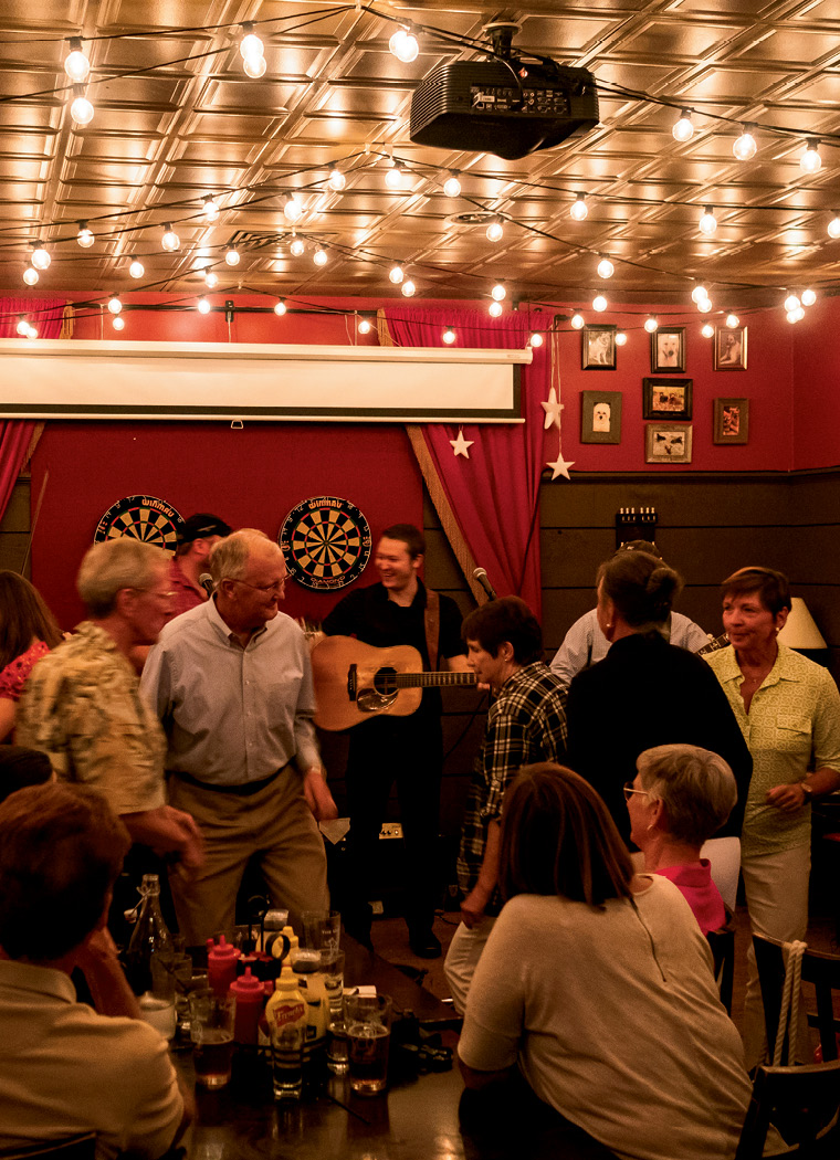 A full house for a bluegrass show at the Ugly Dog Public House.