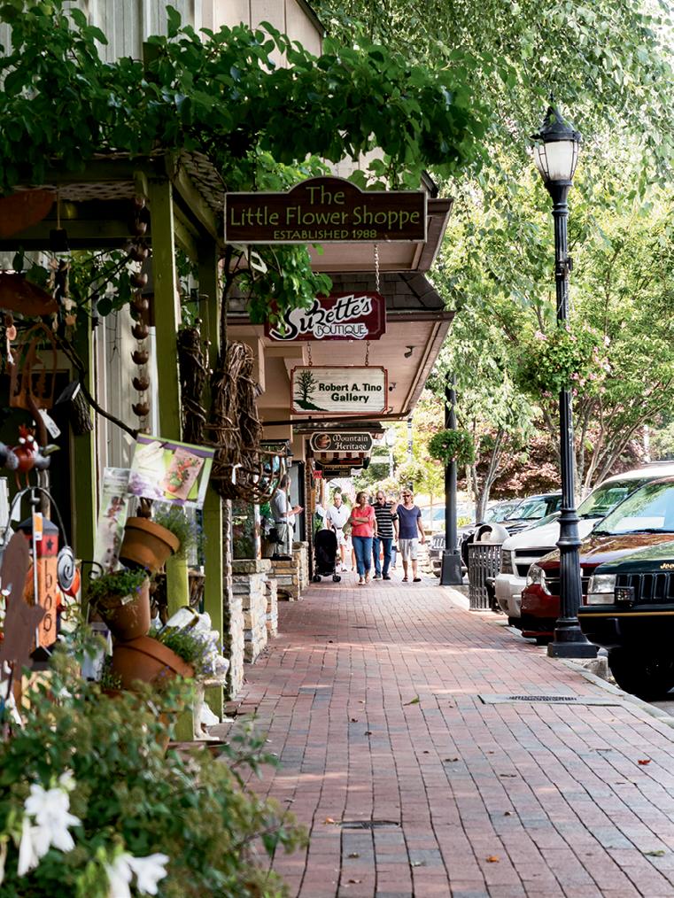 Local shops line Main Street