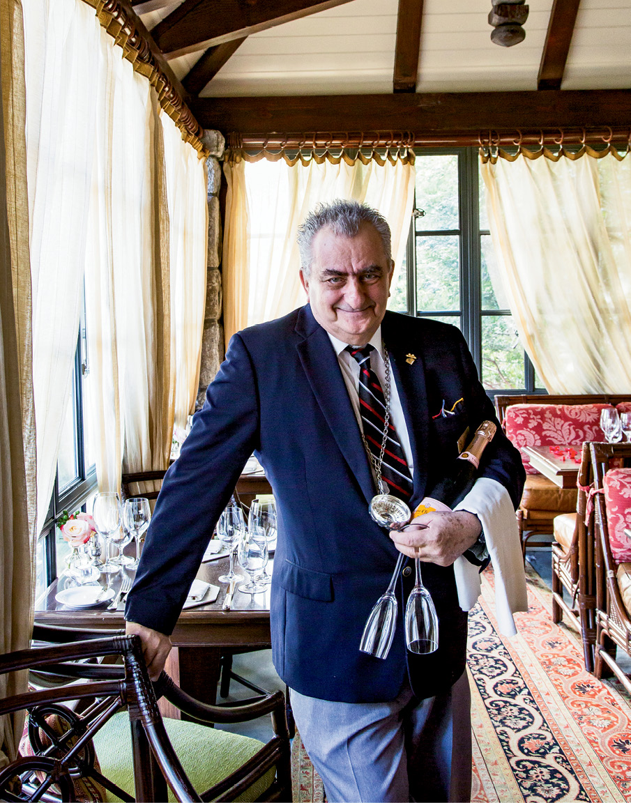 Philippe Brainos, the jocular sommelier at Madison's Restaurant in the Old Edwards Inn