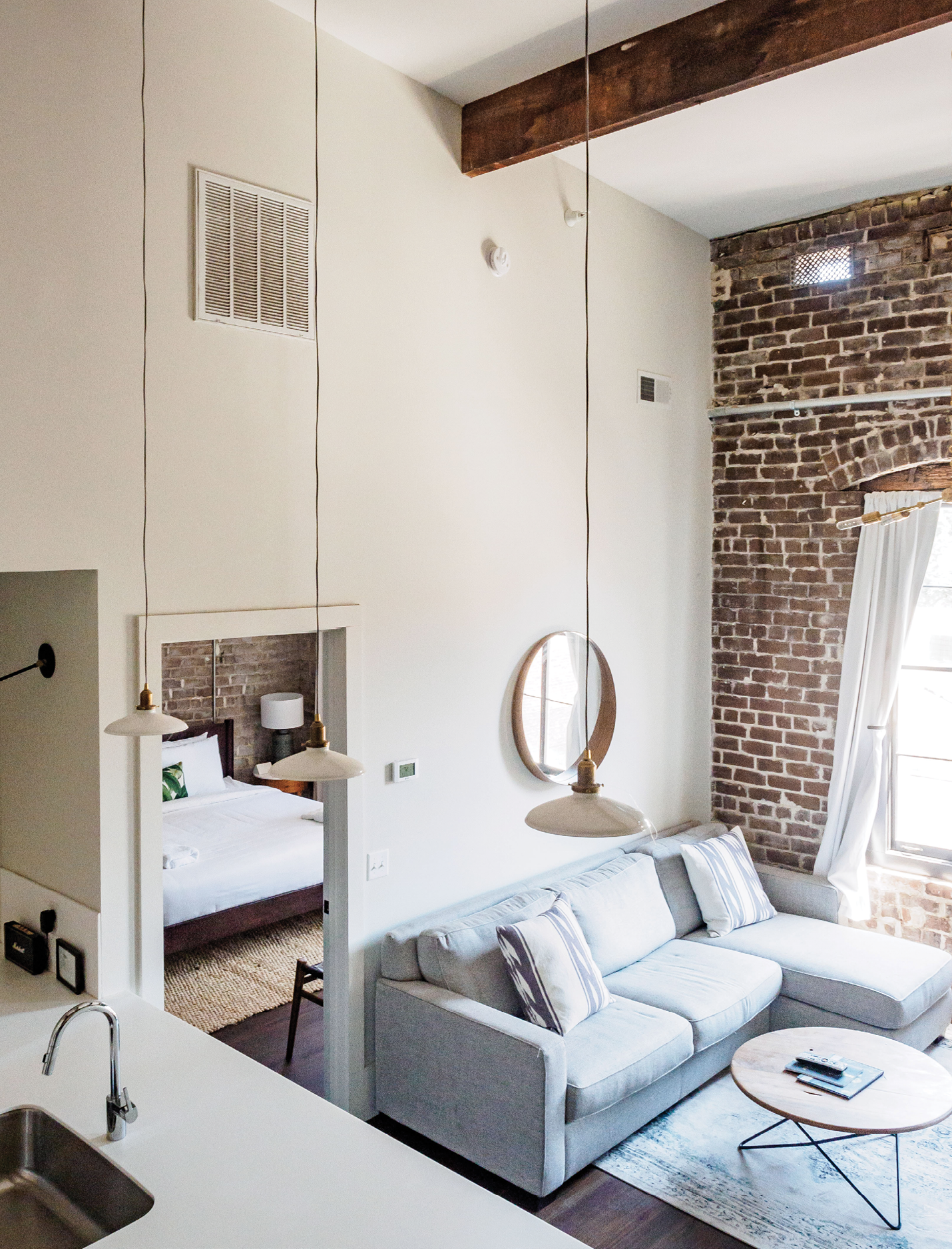 Lofty apartments for overnight and longer stays at The Grant, a former garment factory that opened last year on Broughton Street.