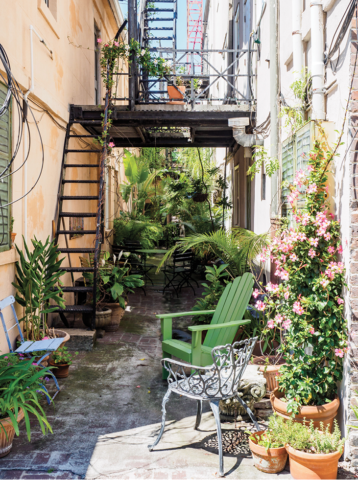 A welcoming patio in the Design District.