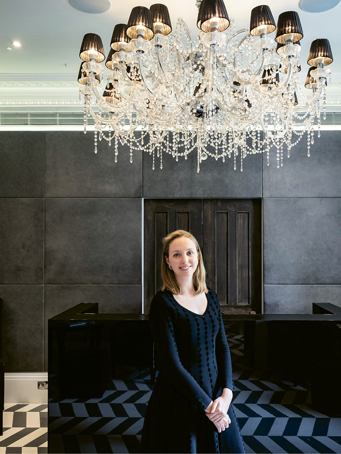 """Olivia Byrne, in 2011 dubbed the """"UK's youngest hotelier"""" at age 23, renovated and opened the property which continues to win awards for its design and tech-savvy amenities."""