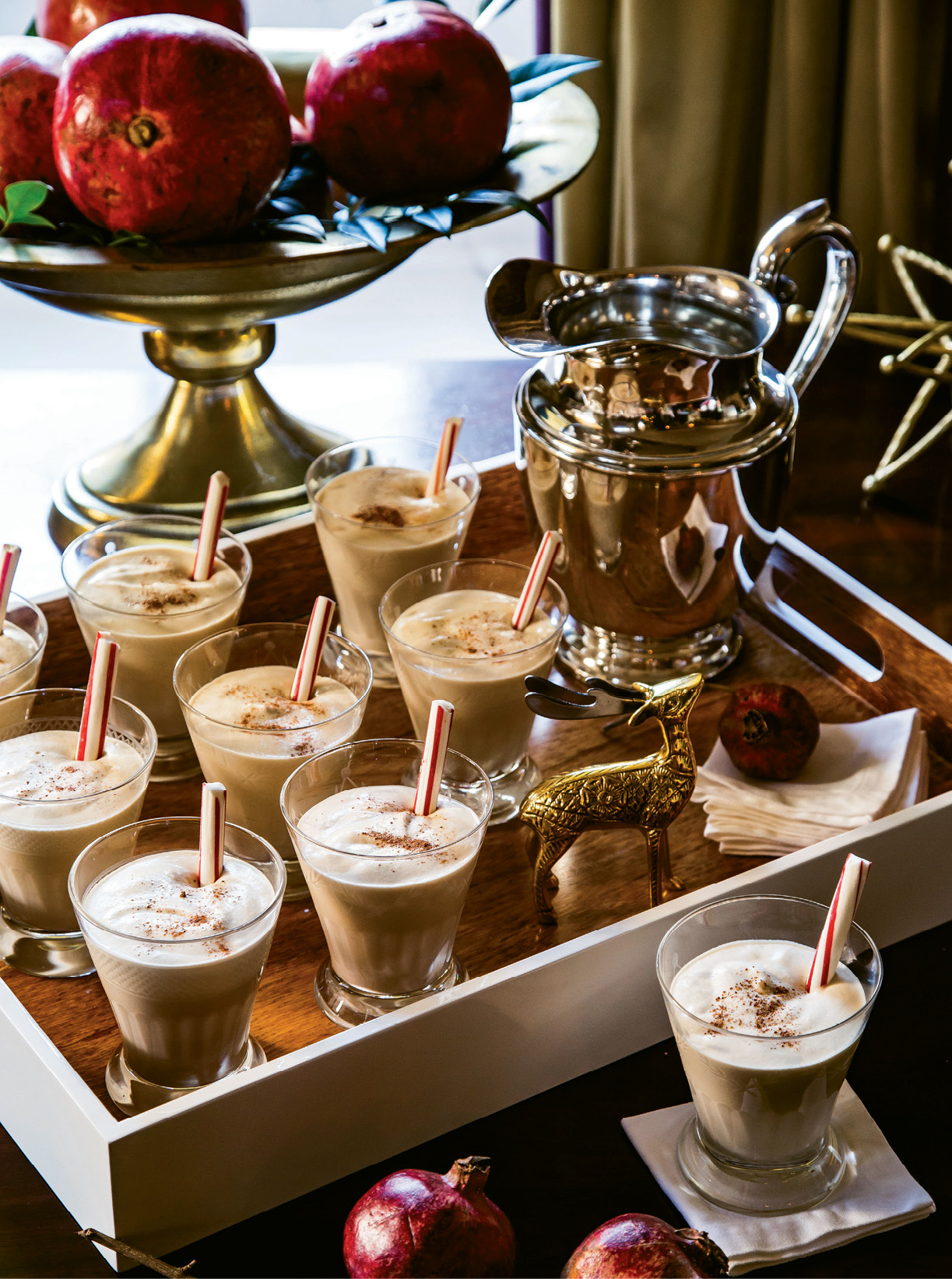 """QUINTESSENTIAL SIP: """"There's nothing better in the world than homemade eggnog,"""" Tara says. """"It's not Christmas without it—dessert and bourbon in a cup!"""""""