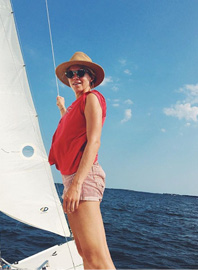 """On an Off-Day:  """"We love to sail. And of course, play with Oscar, our eight-month-old."""""""