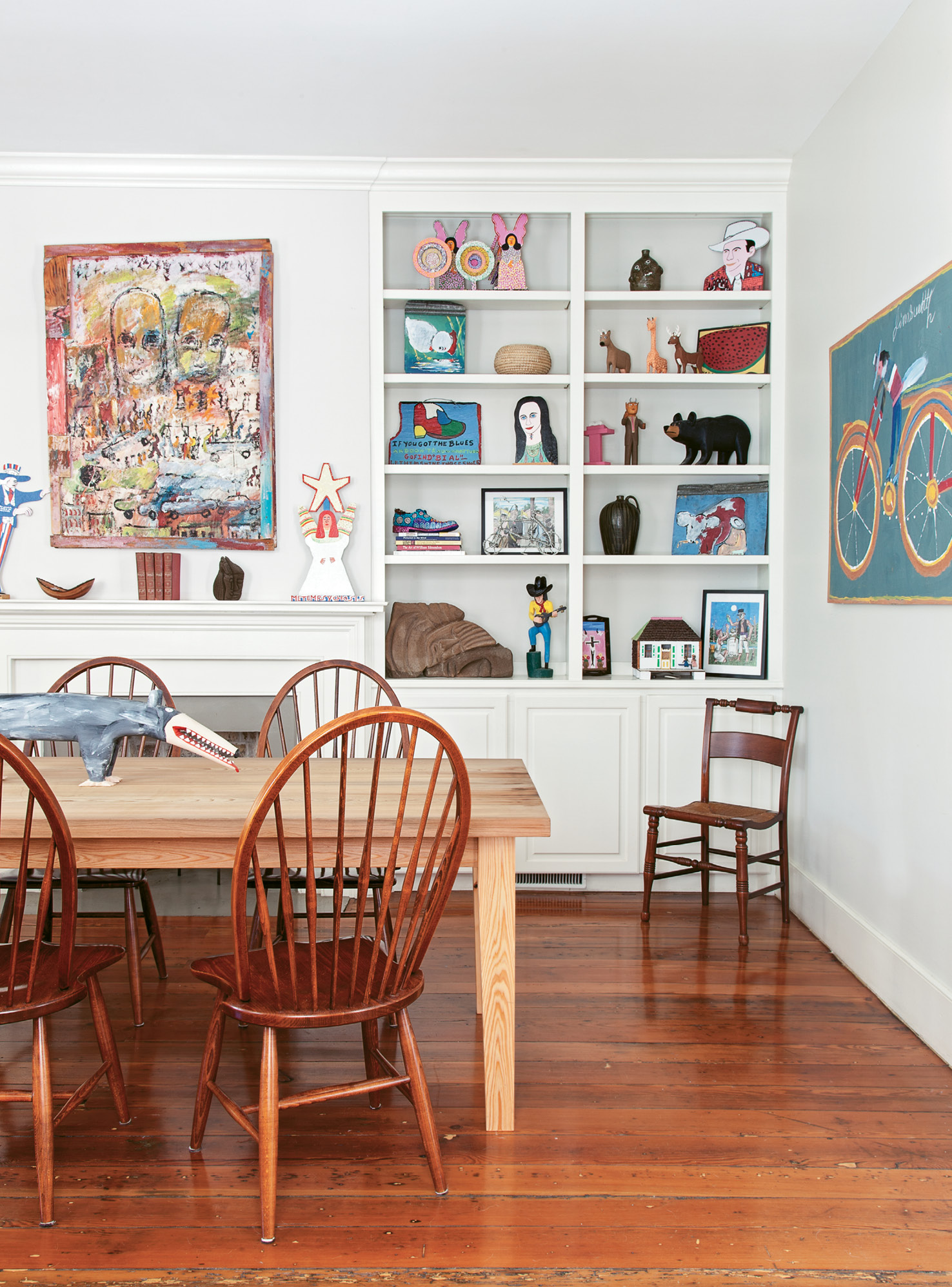 The couple's folk-art collection could fill a museum.