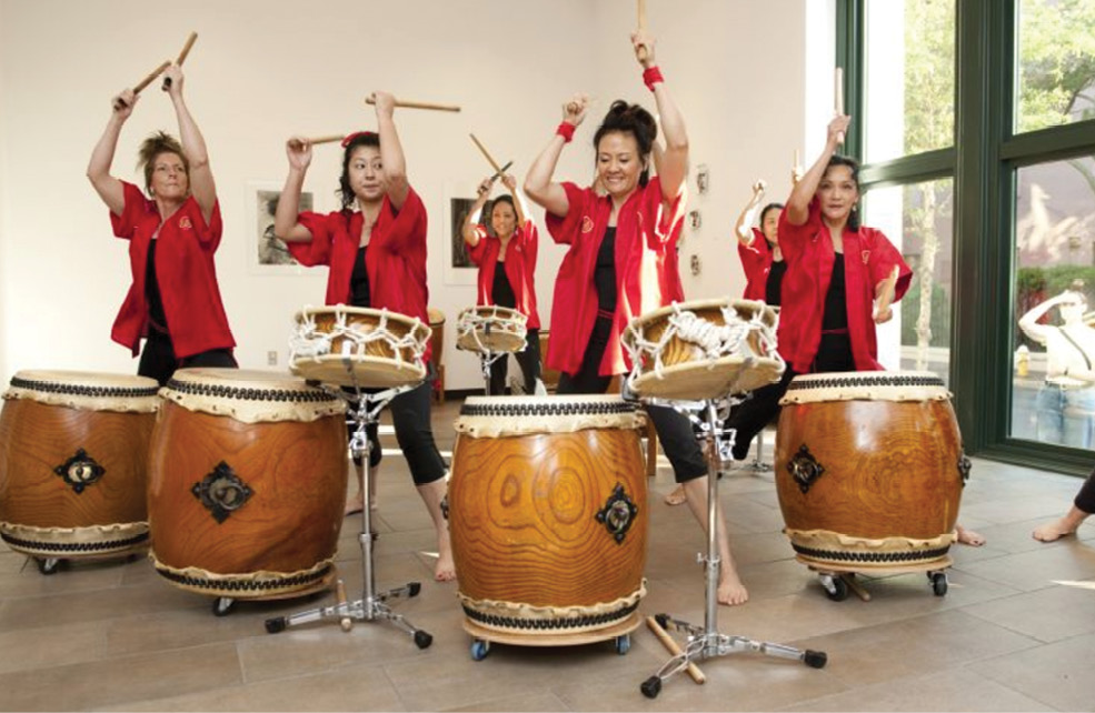 Taiko Charleston drummers perform at one of many unique Halsey openings