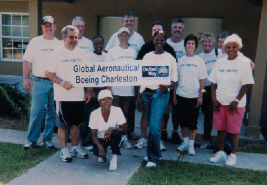 Volunteering with Boeing's Day of Caring team in 2010