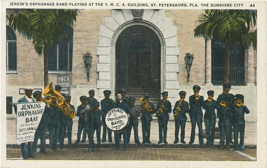 The popular Jenkins Orphanage Band (pictured here in St. Petersburg, Florida) regularly toured the country.