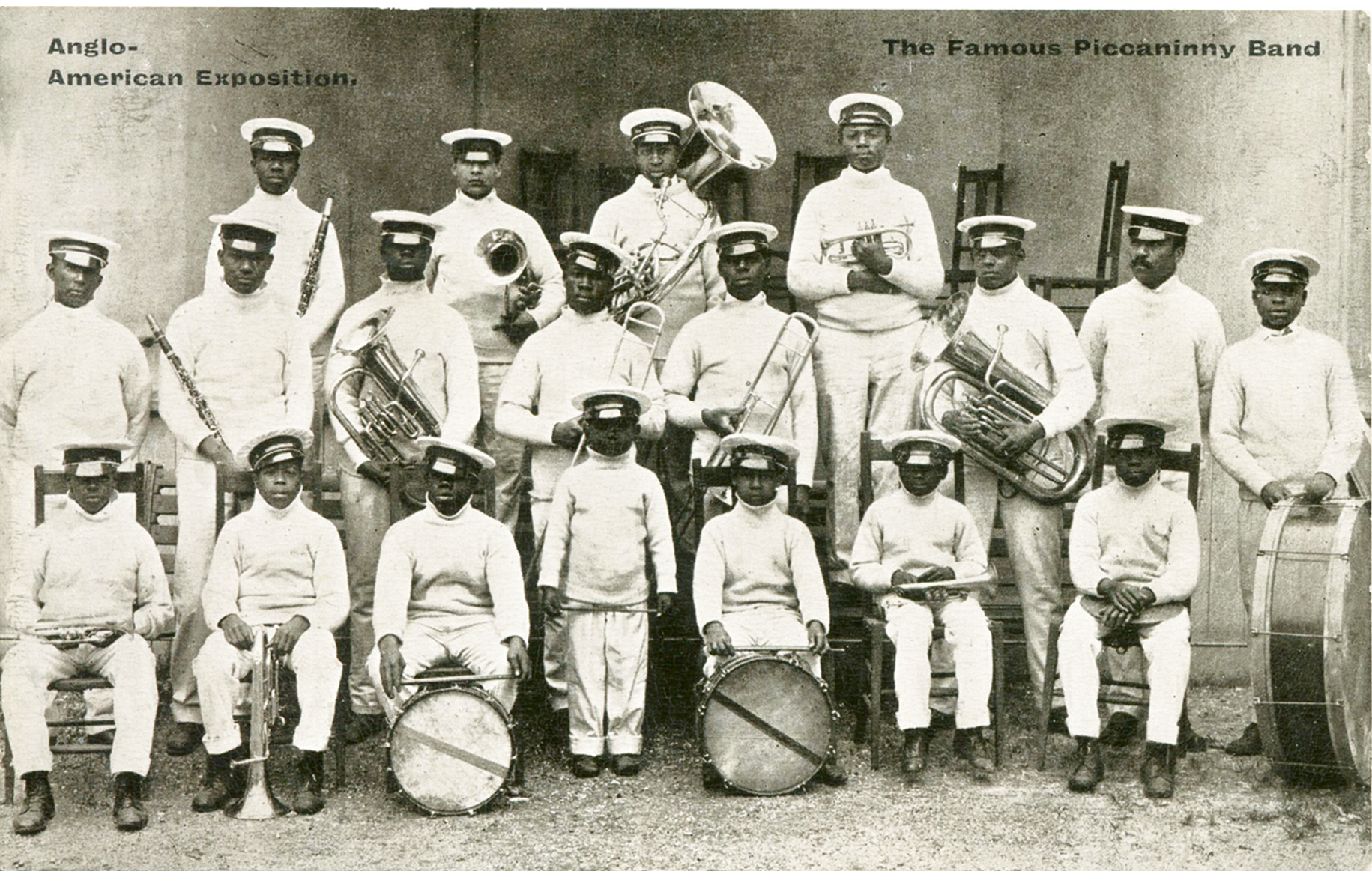 "A postcard billing the Jenkins band as ""The Famous Piccaninny Band"""