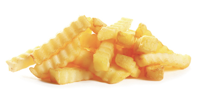 """Go-To Eats: """"Crinkle-cut fries and a hamburger, eaten in the car; I'm simple."""""""