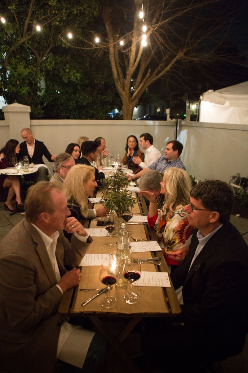 Guests enjoy the patio at The Shellmore.