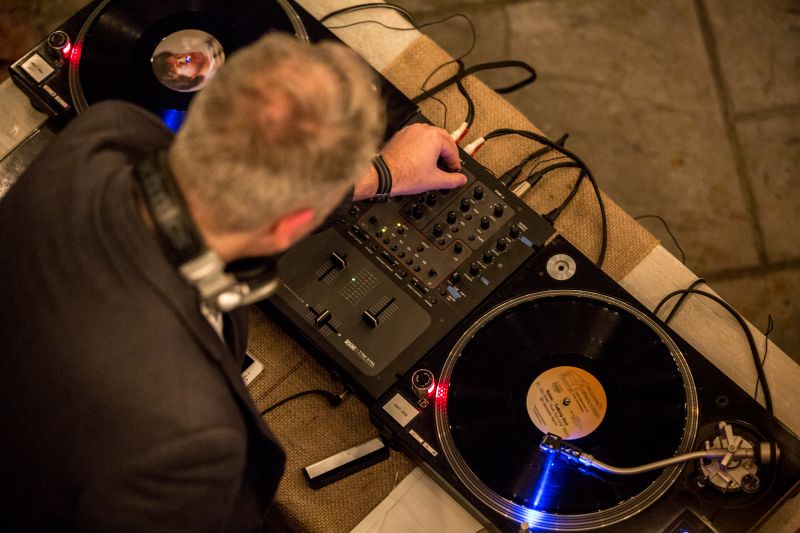 John Zahl, aka DJ JAZ, manned the turntables.