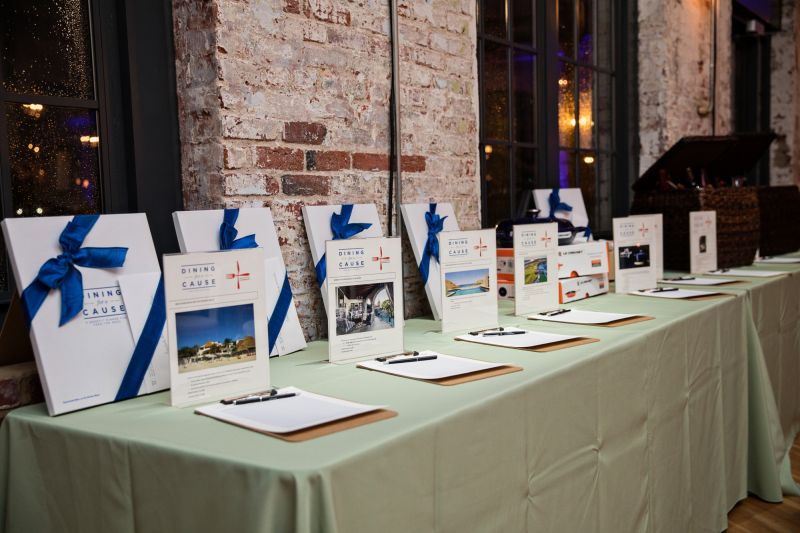 Silent auction items included local experiences and lavish getaways.