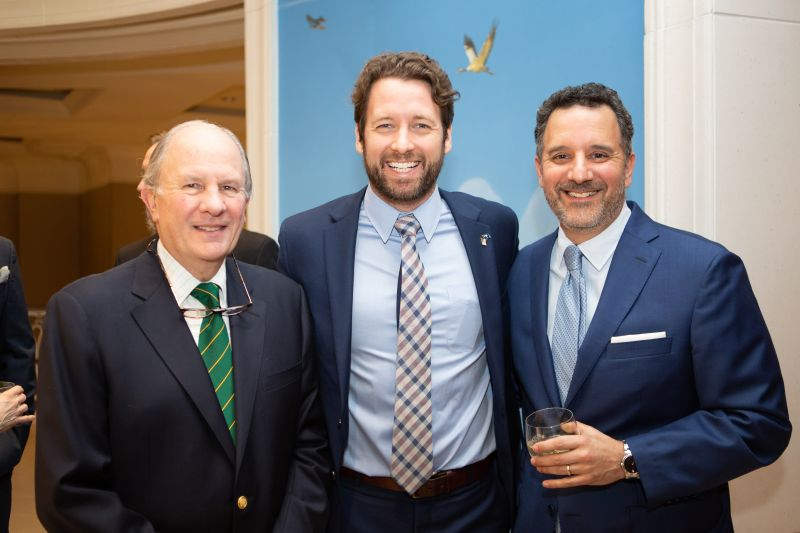 John Thompson, Congressman Joe Cunningham, and Steven E. Goldberg
