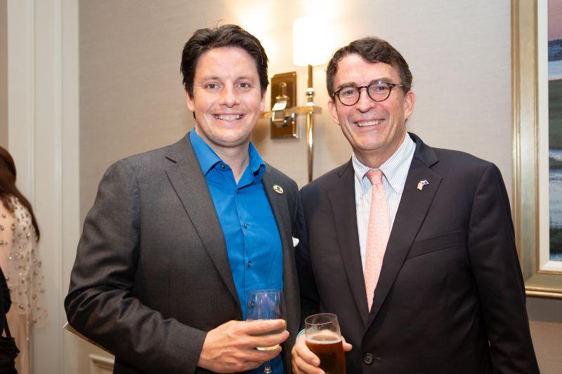 Windsor, California visiting mayor Dominic Foppoli and councilmember Mike Seekings