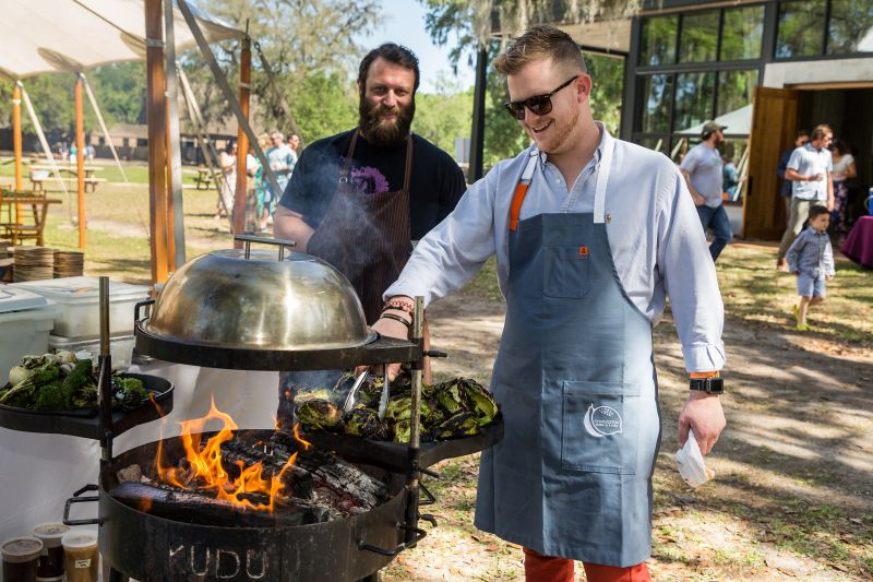 Bob Cook of Edmund's Oast and a guest chef from The Grocery