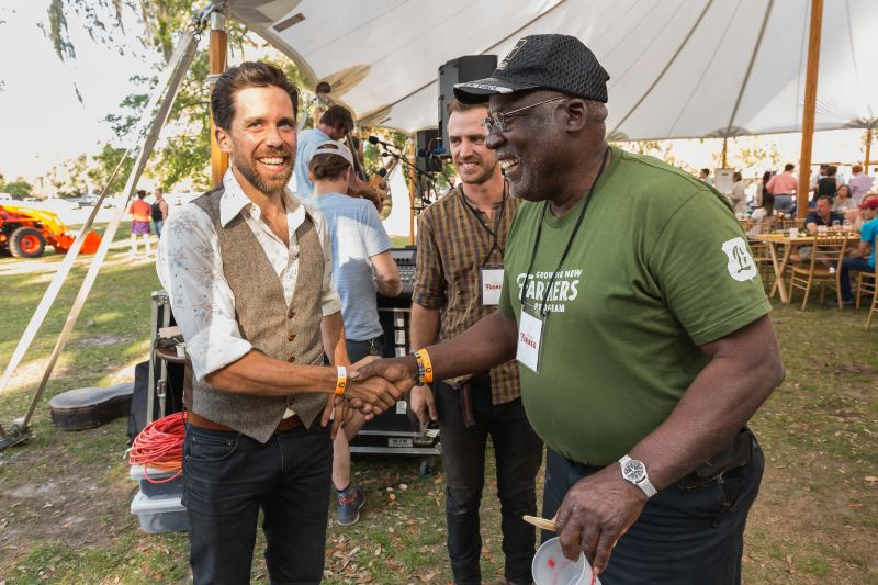 LLF's Director of Sustainable Agriculture Brian Wheat with Georgia Fields