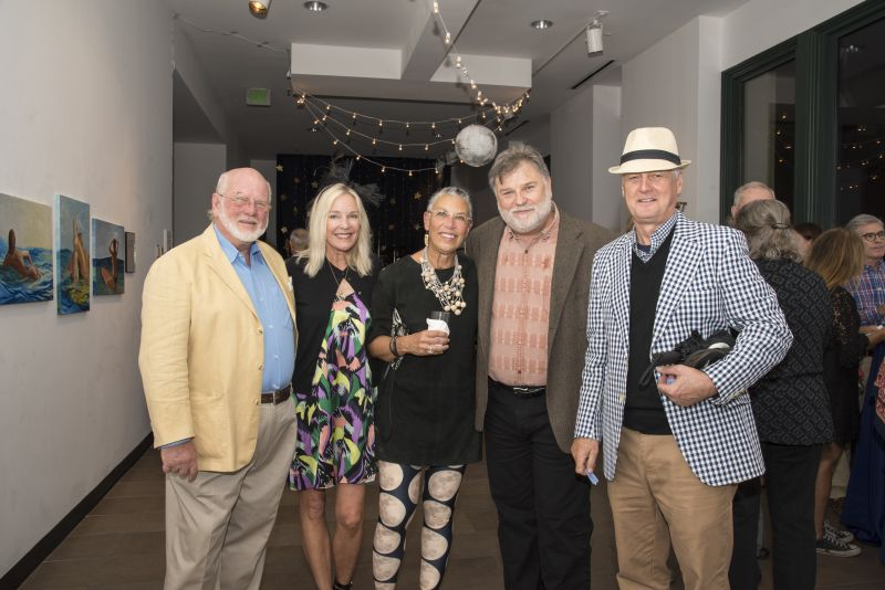 Grahmn Stone, Wendy Dopp, event chair Annie Stone, Halsey curator Mark Sloan, and Steve Dopp