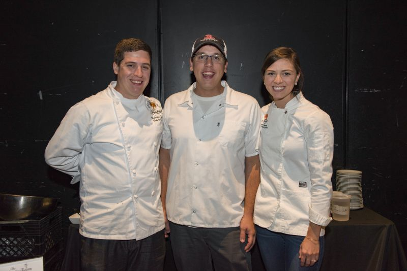 The Atlantic Room's Chef Nick Torno, Ryan Courtright, and Shannon Yelmini