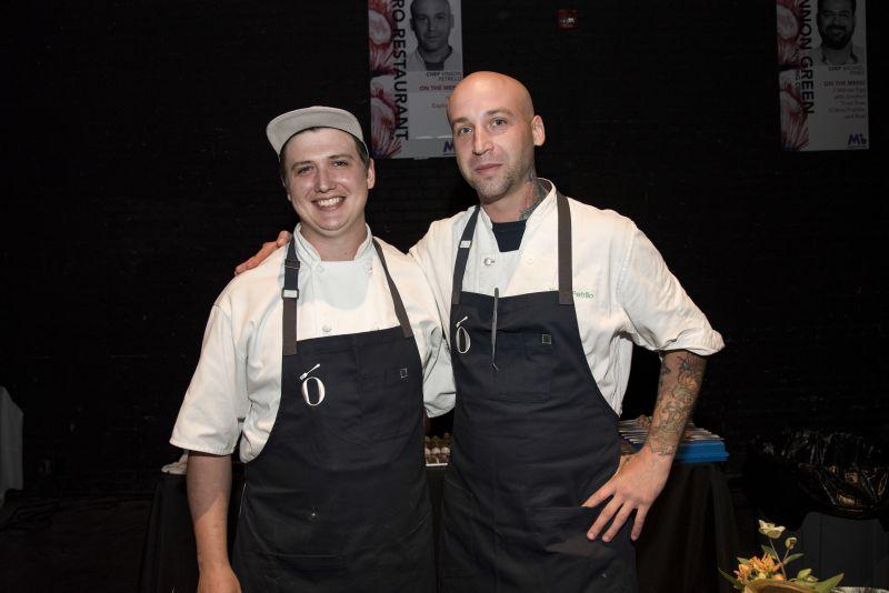 Zero Restaurant Chef Vinson Petrillo with a member of his team