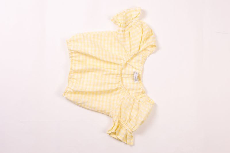 "Faithfull the Brand ""Biassa"" top in ""hello yellow,"" $127 at Beckett Boutique"