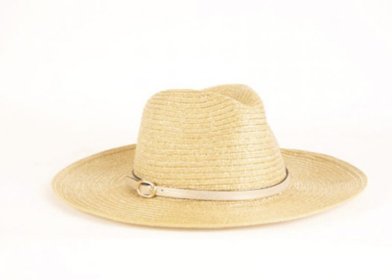 Maris Dehart metallic gold summer straw hat, $34 at Maris Dehart