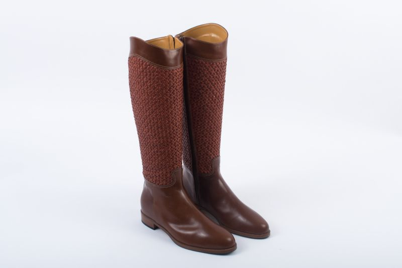 "Ron White ""Delacy"" handwoven leather boot, $1,295 at Gwynn's of Mount Pleasant"