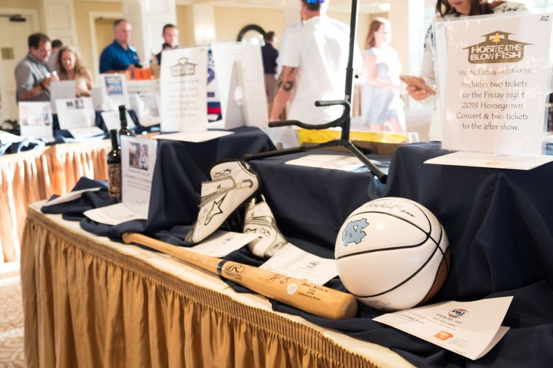 Among the auction items were signed sports memorabilia, concert and game tickets, dinners at favorite Charleston restaurants, and more.