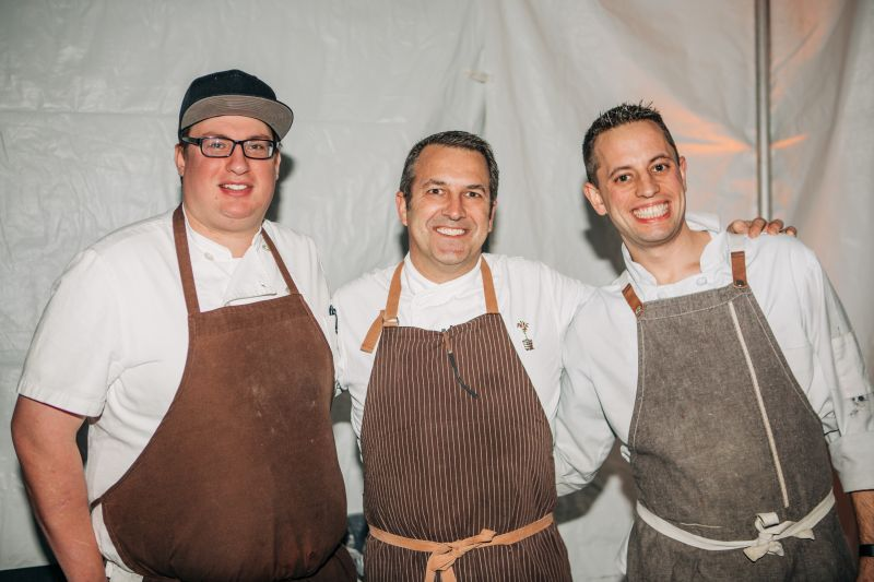 Gavin Murray, executive chef and owner of The Grocery Kevin Johnson, and Walter Edward