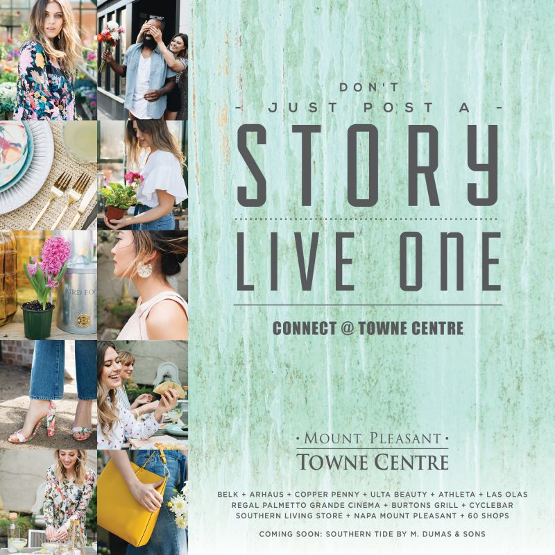 """The Charleston Summer Guide is sponsored by: <strong><u><a href=""""https://mtpleasanttownecentre.com/"""" target=""""_blank"""">Mount Pleasant Towne Centre</a></u></strong>"""
