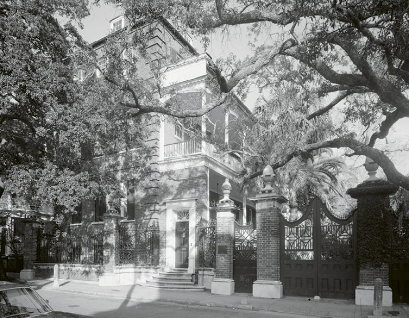"""In October 1946, Marjorie bought the Simmons-Edwards House (also known as the """"Pineapple Gates House"""") at 14 Legare Street as a winter home. She sold it three months later to Dr. L. S. Fuller of Columbia."""