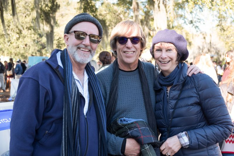 Charleston Parks Conservancy's Director of Programs Jim Martin with Stephen and Laurie Berman