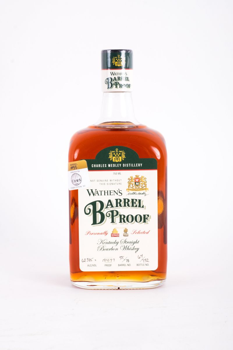 "Wathen's ""Barrel Proof"" Kentucky straight bourbon whiskey, $80 at Bottles Mount Pleasant"