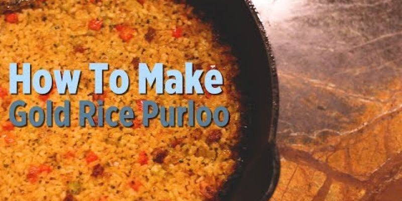 Embedded thumbnail for VIDEO: How To Make: Gold Rice Purloo